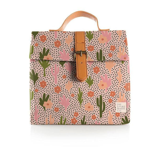 The Somewhere Co Blooming Cacti Lunch Satchel