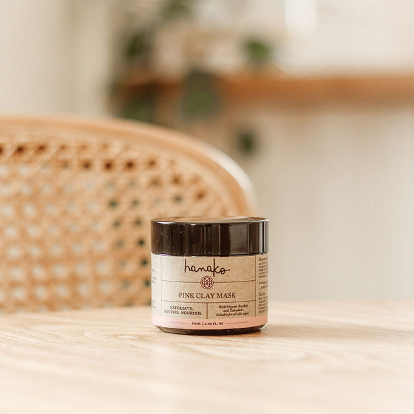 Pink Clay Mask by Hanako Therapies