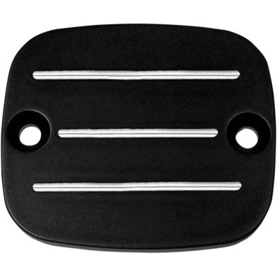 Accutronix Master Cylinder Cover with Milled Lines - 1996-2009 Big Twin - Black