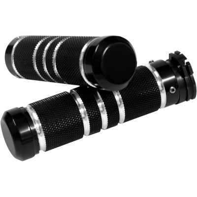 Accutronix Knurled Grooved Custom Grips for Cable - Black