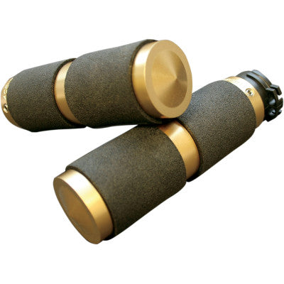 Accutronix Rubber Custom Grips for Cable - Brass