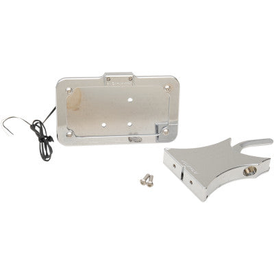 Accutronix Side Mount License Plate - Chrome
