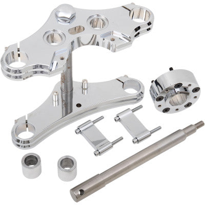 Accutronix 39 mm Wide Glide Triple Tree Conversion Kit - 2004-2005 Dyna