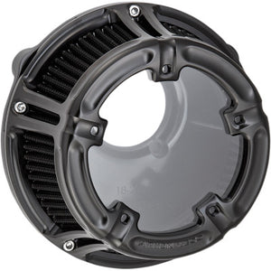 Arlen Ness Method Clear Series Air Cleaner - All Black - Twin Cam