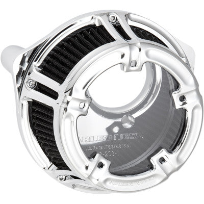 Arlen Ness Method Clear Series Air Cleaner - 1999-2017 Twin Cam Models (Except TBW) - Chrome