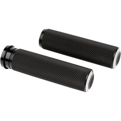 Arlen Ness Knurled Grips - TBW - Dual Ring