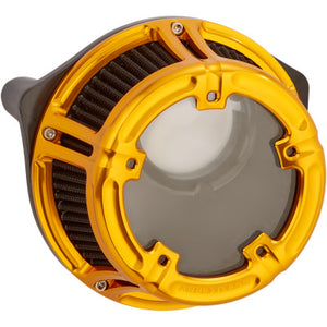 Arlen Ness Method Clear Series Air Cleaner - 2000-2017 Twin Cam - Gold