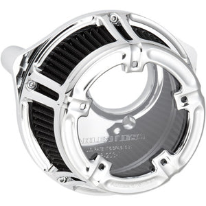 Arlen Ness Method Clear Series Air Cleaner - 2017-2020 Touring & 2018-2020 Softail Models - Chrome