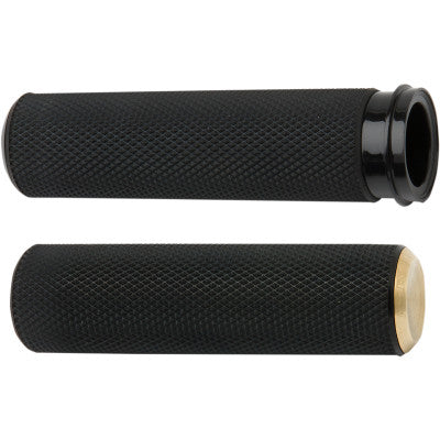 Arlen Ness Fusion Knurled Grips - TBW - Brass