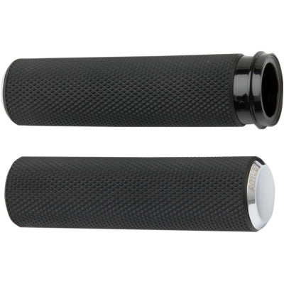 Arlen Ness Knurled Fusion Grips - Throttle by Wire