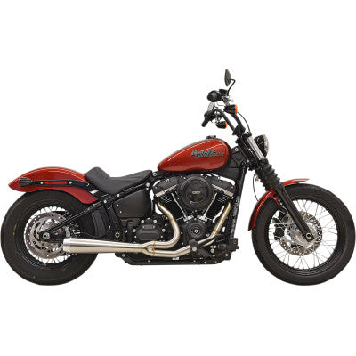 Bassani Road Rage 2:1 Exhaust System - 2018-2020 M8 Softail - Straight Can - Stainless Steel - Cobalt Cycles