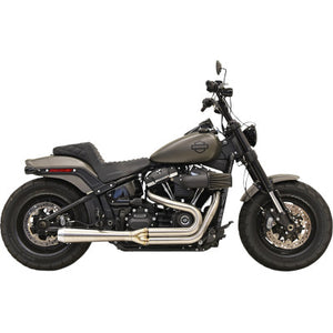 Bassani Road Rage 2:1 Softail Exhaust - M8 Softail Slim & Fatbob - Cobalt Cycles