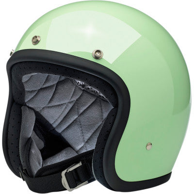 Biltwell Bonanza Open-Face 3/4 Shell Motorcycle Helmet - Gloss Mint