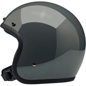 Biltwell Bonanza Open-Face 3/4 Shell Motorcycle Helmet - Gloss Storm Gray