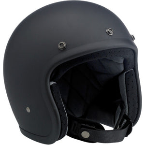 Biltwell Bonanza Open-Face 3/4 Shell Motorcycle Helmet - Flat Black
