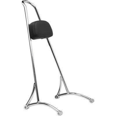 "Burly Brand 20"" Tall Sissy Bar with Backrest Pad - 2004-2020 XL - Chrome"