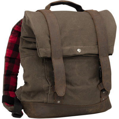 Burly Brand Roll Top Backpack - Dark Oak