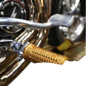 Thrashin Supply Co. Burnout Footpegs - Dyna - Gold