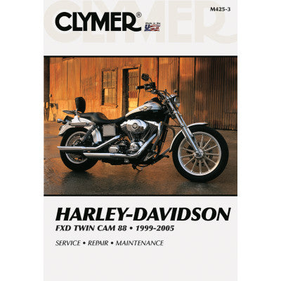 Clymer Motorcycle Repair Manual - FXD Twin Cam 88 1999-2005