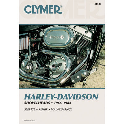 Clymer Motorcycle Repair Manual - Shovelheads 1966-1984