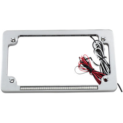 Custom Dynamics Dual LED License Plate Frame - Chrome