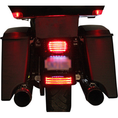 Custom Dynamics LED Fender Tip Taillight - Smoke Lens - Chrome