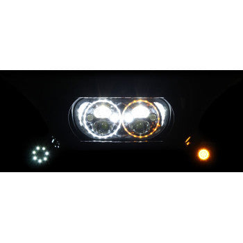 Custom Dynamics TruBEAM LED Headlamp - 2015-2020 FLTR - Chrome