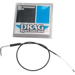 Drag Specialties Black Vinyl Idle Cable - 30""