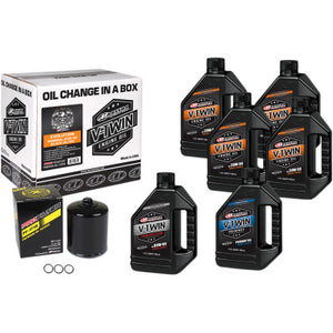 Maxima Racing Oils Full Oil Change Kit - Conventional - Evo Big Twin - Cobalt Cycles