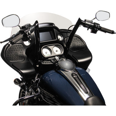 "Fat Baggers Inc. 1-1/2"" EZ Install Pointed Top Black Handlebar - 14"""