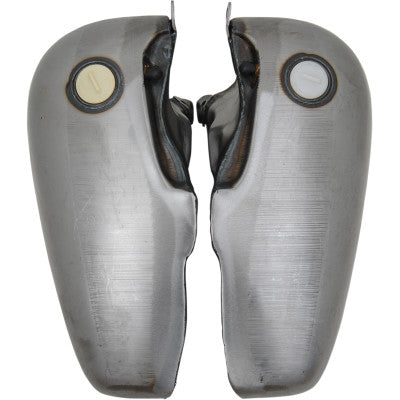 Drag Specialties 5 Gallon Fat Bob Gas Tanks w/Screw In Gas Caps - 1948-1984 Big Twin Models