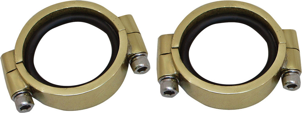 HardDrive Heavy Duty O-Ring Intake Manifold Clamp Set - 1955-E1978 Panhead Shovelhead and XL Models - Brass