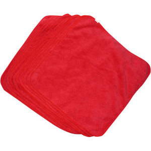 Hardline Microfiber Towels - Red - 12 Pack