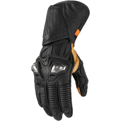 Icon Hypersport GP Long Gloves - Black