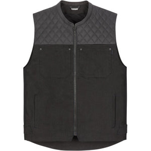 Icon Chamonix Denim Vest - Black