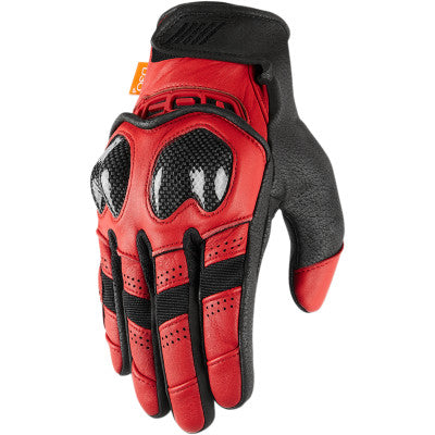 Icon Contra2 Gloves - Red