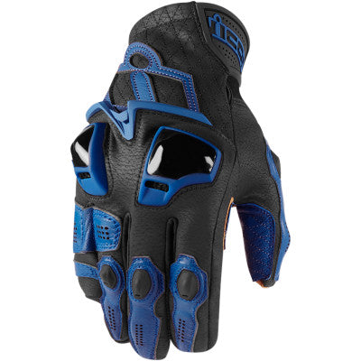Icon Hypersport Short Gloves - Blue