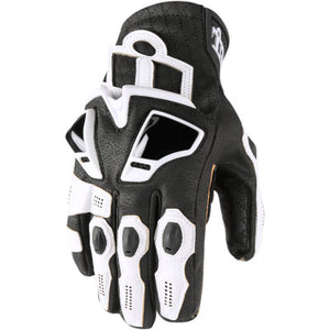 Icon Hypersport Short Gloves - White
