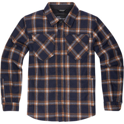 Icon Upstate Flannel Riding Jacket - Orange