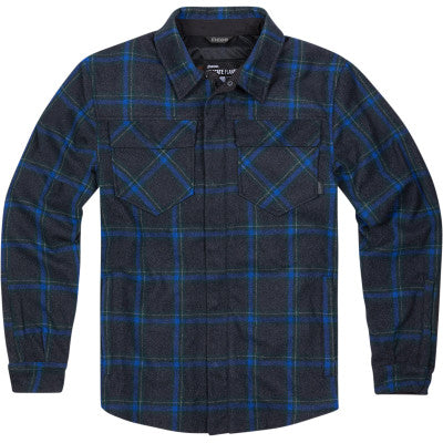 Icon Upstate Flannel Riding Jacket - Blue