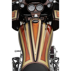 Klock Werks Custom Metal Dash - 2008-2020 Touring Models (Except Road King) - Long