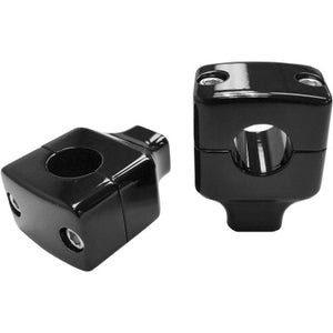"LA Choppers 1-1/2"" Black Square Column Risers Handlebars for 1"" Handlebars"