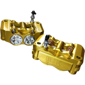 MJK Performance Radial Mount Mono Block Brake Caliper - Gold - Left