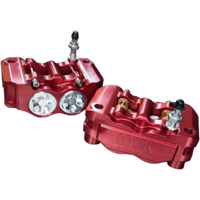 MJK Performance Radial Mount Mono Block Brake Caliper - Red - Left