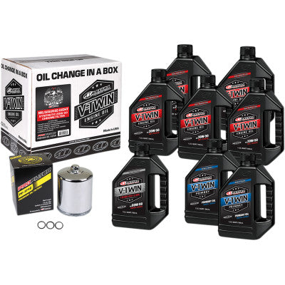 Maxima Racing Oils Full Oil Change Kit - Synthetic - Milwaukee 8