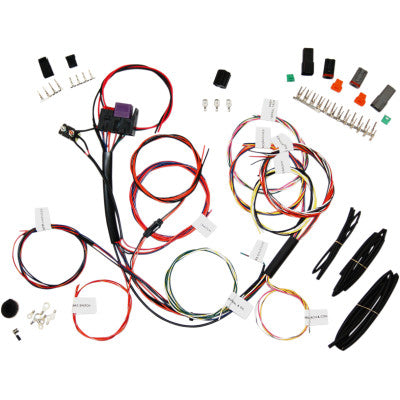 NAMZ Complete Bike Wiring Harness with Starter Relay & 3-Circuits