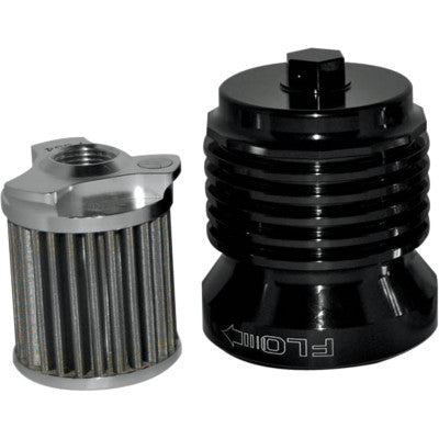 "PC Racing Flo Reusable ""Spin-on"" Oil Filter - Black"