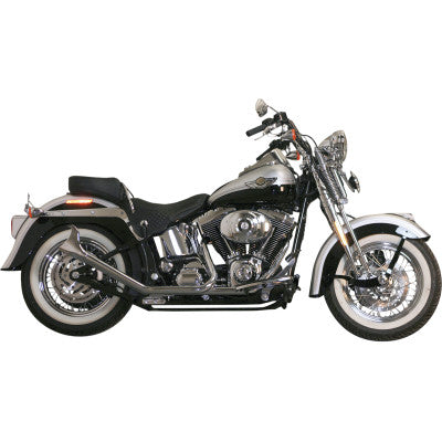 Paughco Side by Side Upsweep Fishtail Exhaust System - Chrome - 1-3/4""