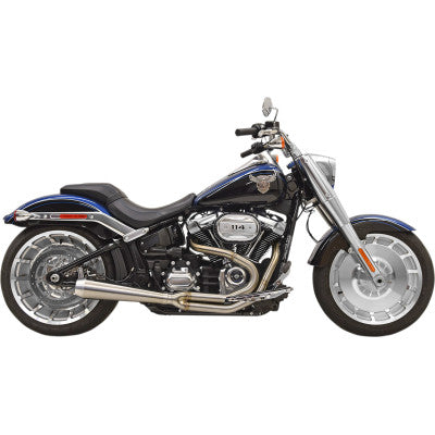 Bassani Road Rage III Short 2:1 Softail Exhaust - M8 Breakout & Fatboy