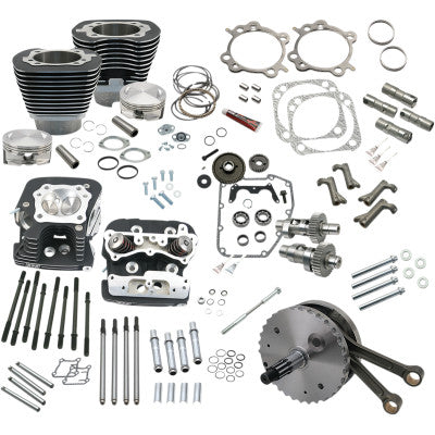 "S&S Cycle 124"" Hot Setup Kit - 1999-2006 Twin Cams 88A (except 2006 Dyna) - Black"